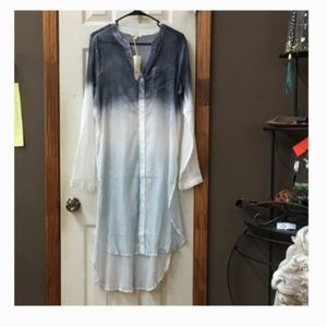 RESTOCK Mystree Blue Ombre Tunic Sheer NWT